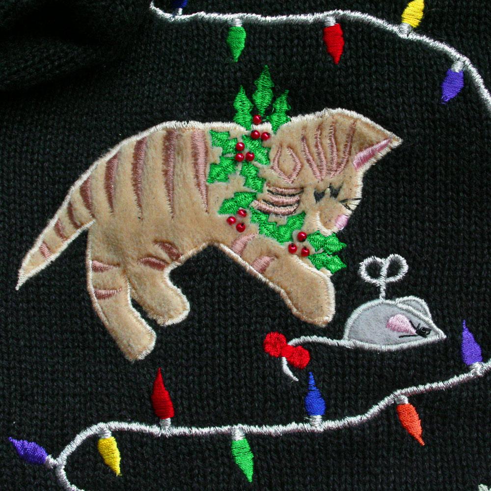Deformed Kitties And Grumpy Cat Tacky Ugly Christmas