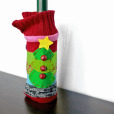 Jingle Bell Knit Ugly Christmas Sweater Wine Bottle Cozy