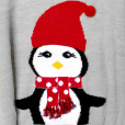 Lightweight Hi-Lo Penguin Tacky Ugly Christmas Sweater 2