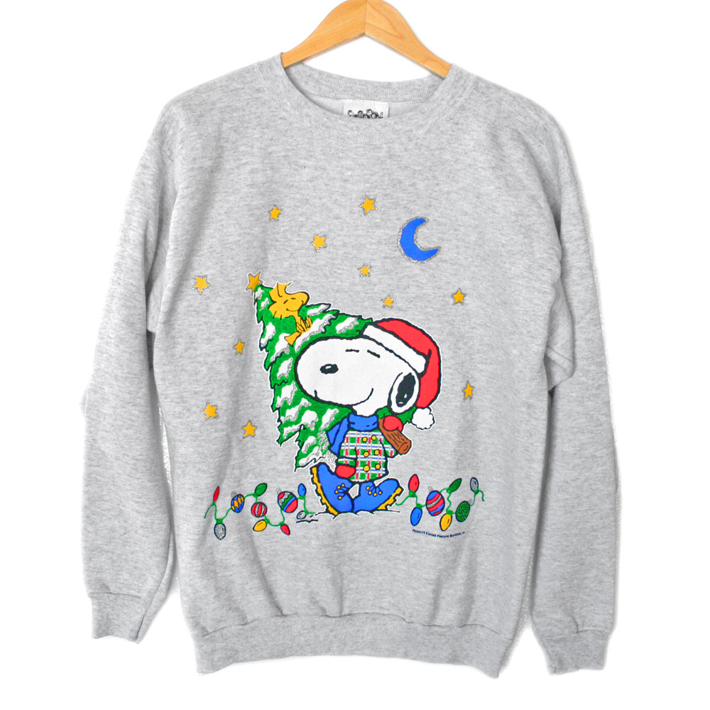 peanuts santa snoopy tacky ugly christmas sweatshirt - Snoopy Christmas Shirt