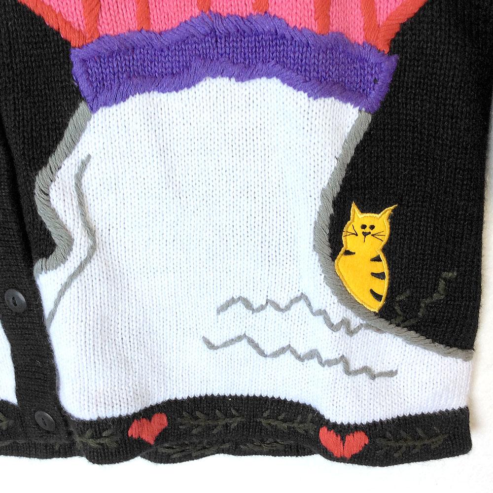 Smirking Snowmen, Hidden Kitten Tacky Ugly Christmas Sweater - The ...