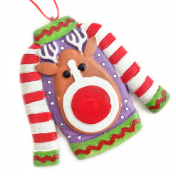 The Legend of the Ugly Sweater Christmas Ornament