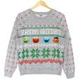 8-Bit Sesame Street Tacky Ugly Christmas Sweatshirt