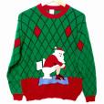 Pooping Santa VERY Tacky Ugly Christmas Sweater