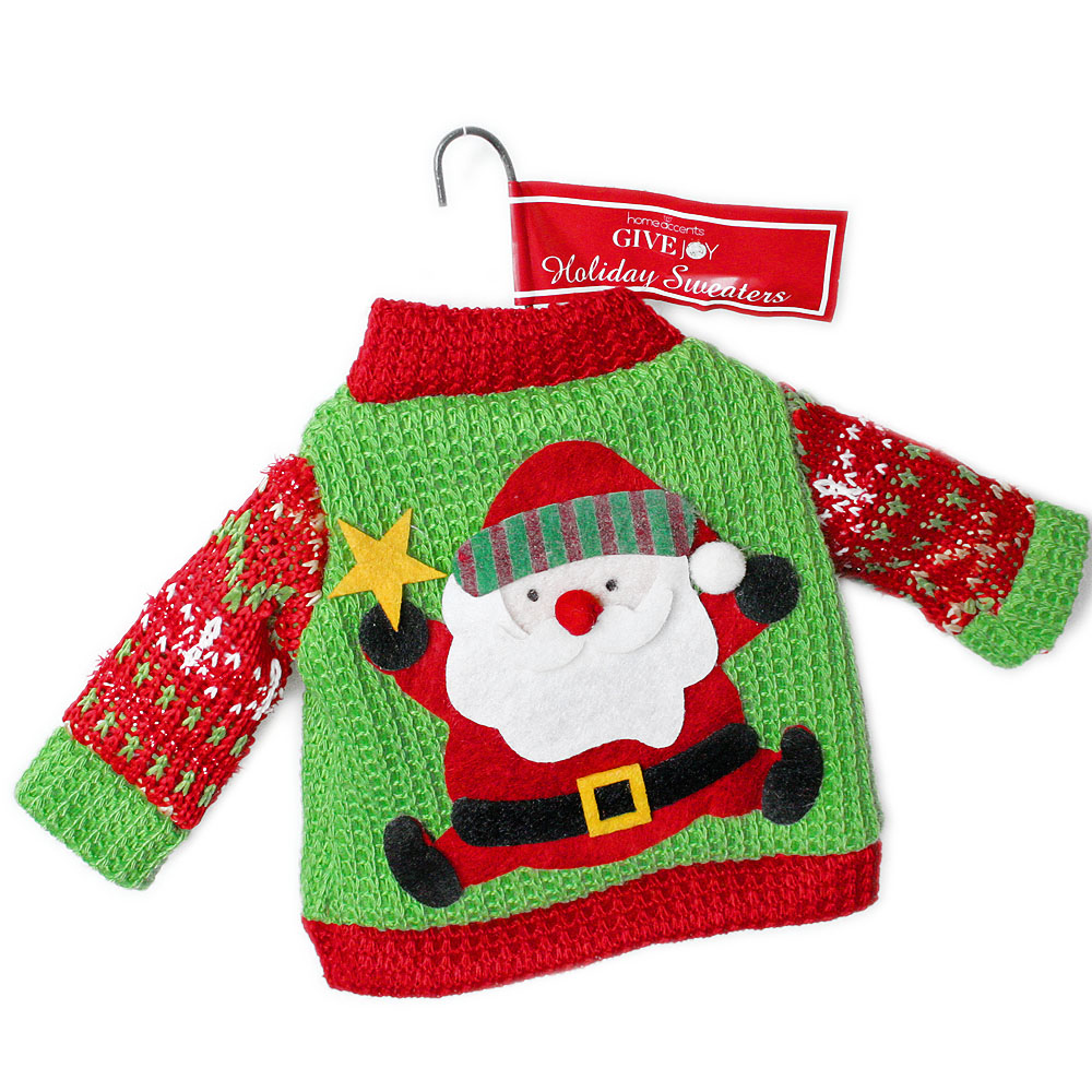 Santa Ugly Christmas Sweater Ornament - The Ugly Sweater Shop