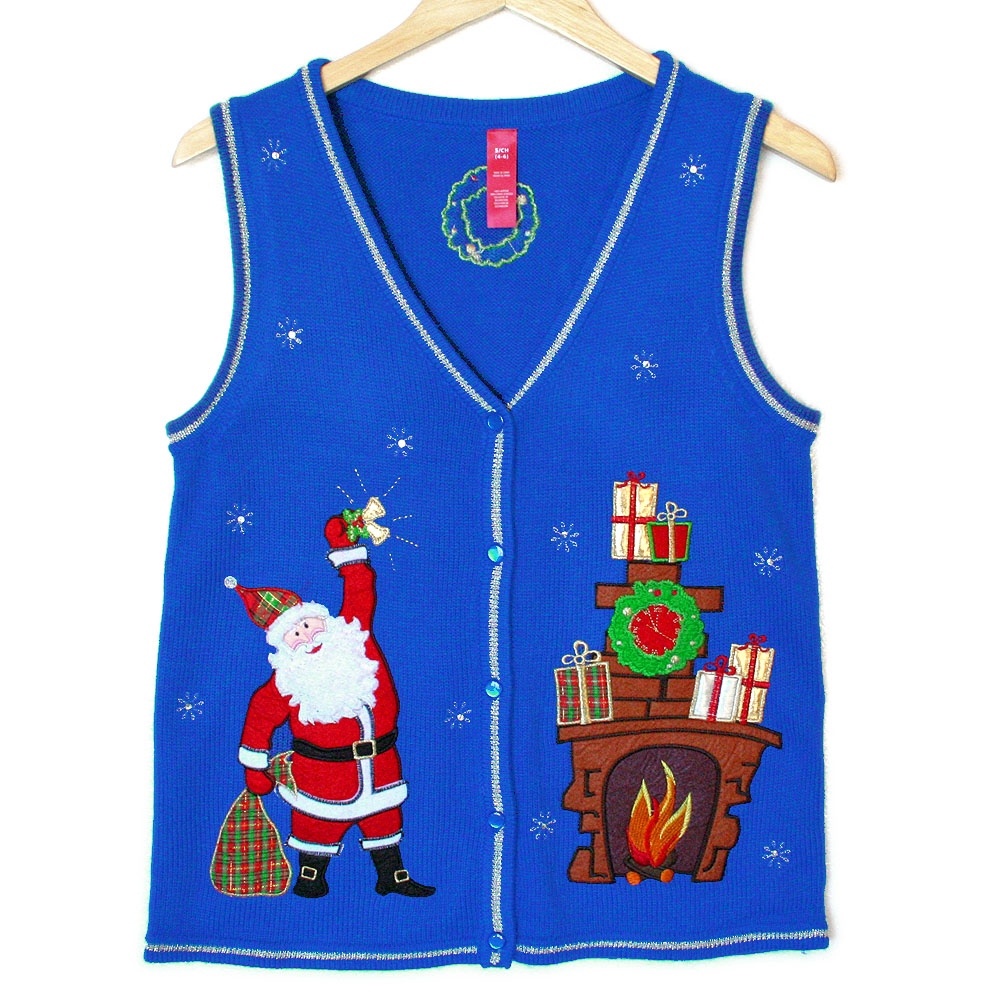 Shhh Santa You\'ll Wake The Kids Tacky Ugly Christmas Sweater Vest ...