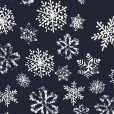 Stamped Snowflakes Tacky Ugly Christmas Turtleneck - Navy Blue