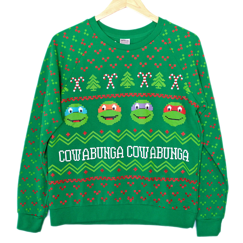 TMNT Teenage Mutant Ninja Turtles Tacky Ugly Christmas Sweatshirt ...