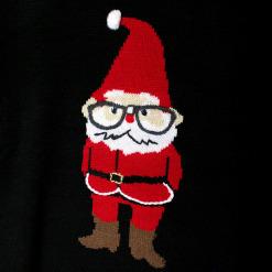 Talk Nerdy To Me Santa Tacky Ugly Christmas Sweater