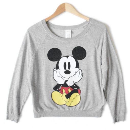 Disney Mickey Mouse Front Back Ugly Sweatshirt Style Shirt