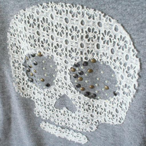 Lace Skull Lightweight Boxy Ugly Sweatshirt