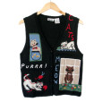 Vintage 90s Cat Lady Kitty Lover Tacky Ugly Sweater Vest