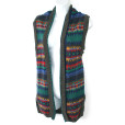 Rainbow Aztec Fair Isle Longer Length Ugly Sweater Vest