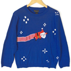 Alex Stevens Nyan Santa Tacky Ugly Christmas Sweater