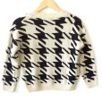 Big Houndstooth Cropped Lightweight Ugly Sweater 2