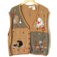 Cat Lady Kitty Lover Tacky Ugly Sweater Vest