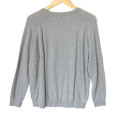 H&M Sequin Lips Gray Tacky Ugly Sweater 3