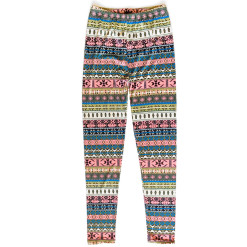 Tribal Aztec Ugly Sweater Print Leggings