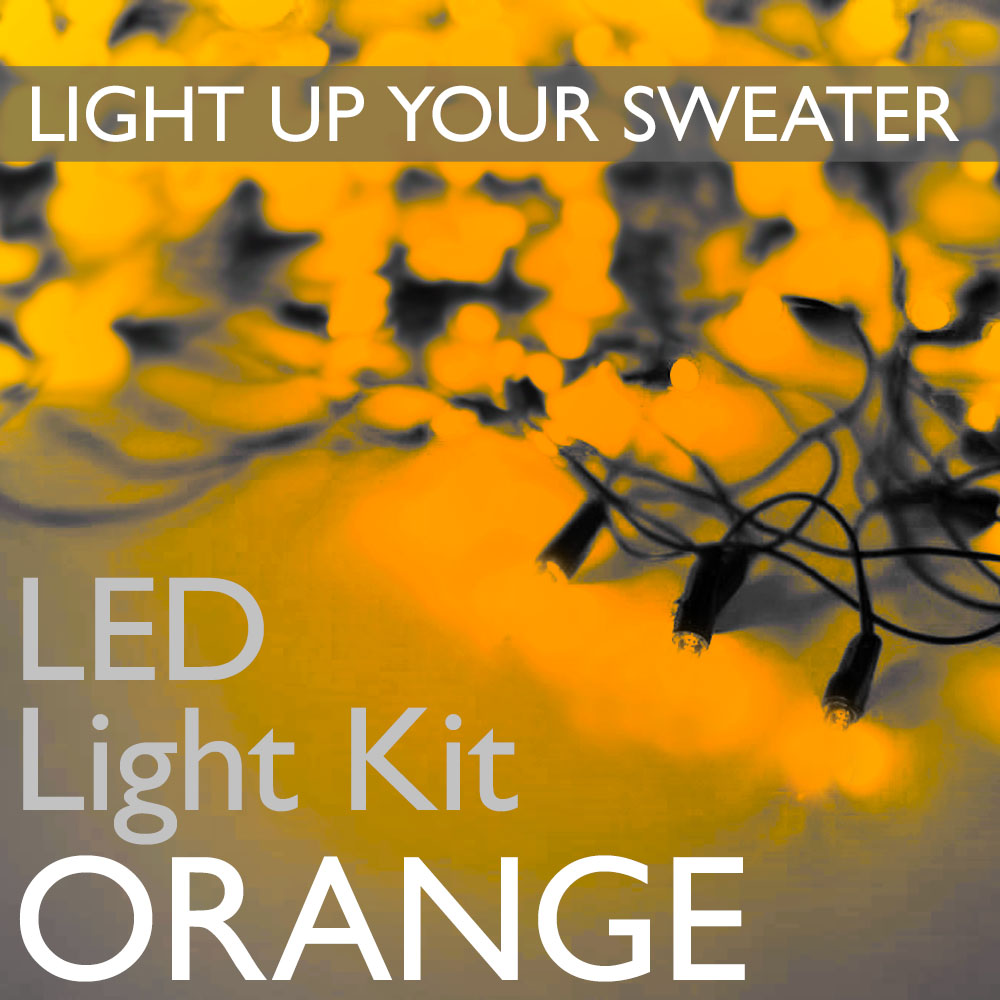Light Up Your Ugly Christmas Or Halloween Sweater With Battery