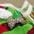 Berek Blingy High Heel Shoes Sequin Tacky Ugly Christmas Sweater 3