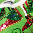 Berek Blingy High Heel Shoes Sequin Tacky Ugly Christmas Sweater 4