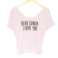 Dear Santa I Love You Scoop Back Ugly Christmas Shirt - Dusty Pink