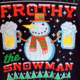 Frothy the Snowman Beer Mug Ugly Christmas Sweater Style Sweatshirt 2