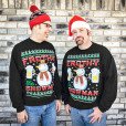 Frothy the Snowman Beer Mug Ugly Christmas Sweater Style Sweatshirt