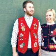 Gingerbread Man + Christmas Candy Tacky Ugly Holiday Sweater Vest