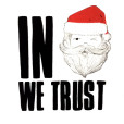 In Santa We Trust Ugly Christmas Crop Top – White 2