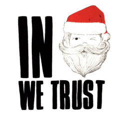 In Santa We Trust Ugly Christmas Crop Top - White