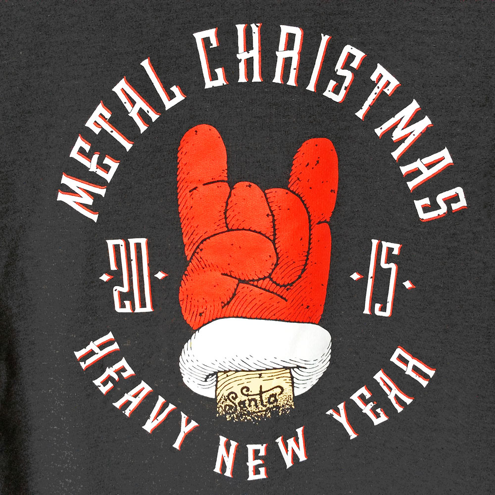 metal christmas heavy new year ugly holiday sweatshirt - Heavy Metal Christmas