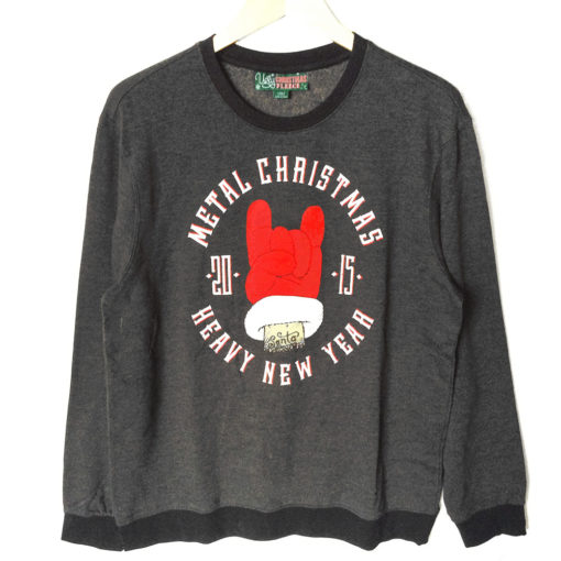 metal christmas heavy new year ugly holiday sweatshirt - Metal Christmas Sweater