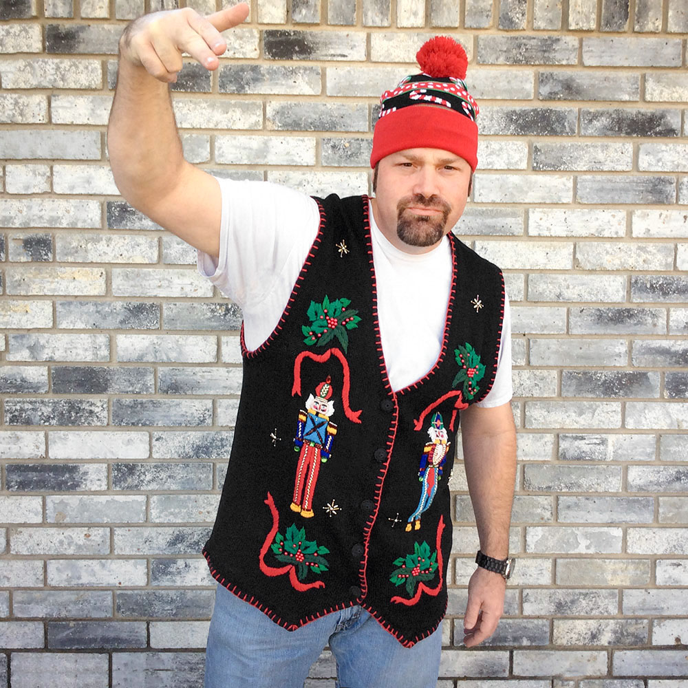 nutcrackers tacky ugly christmas sweater vest - Big And Tall Christmas Sweaters