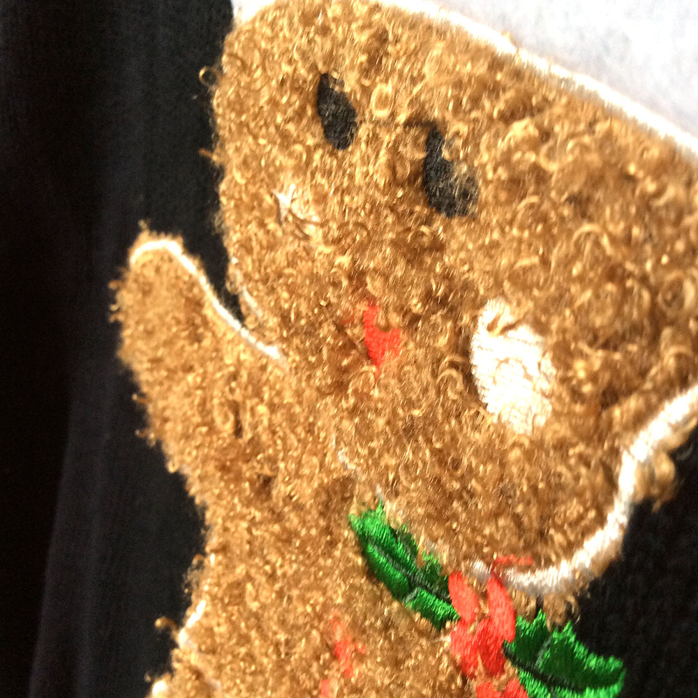 Oh Snap Fuzzy Gingerbread Man Tacky Ugly Christmas Sweater - The ...