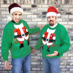 Party with Santa Tacky Ugly Christmas Sweatshirt