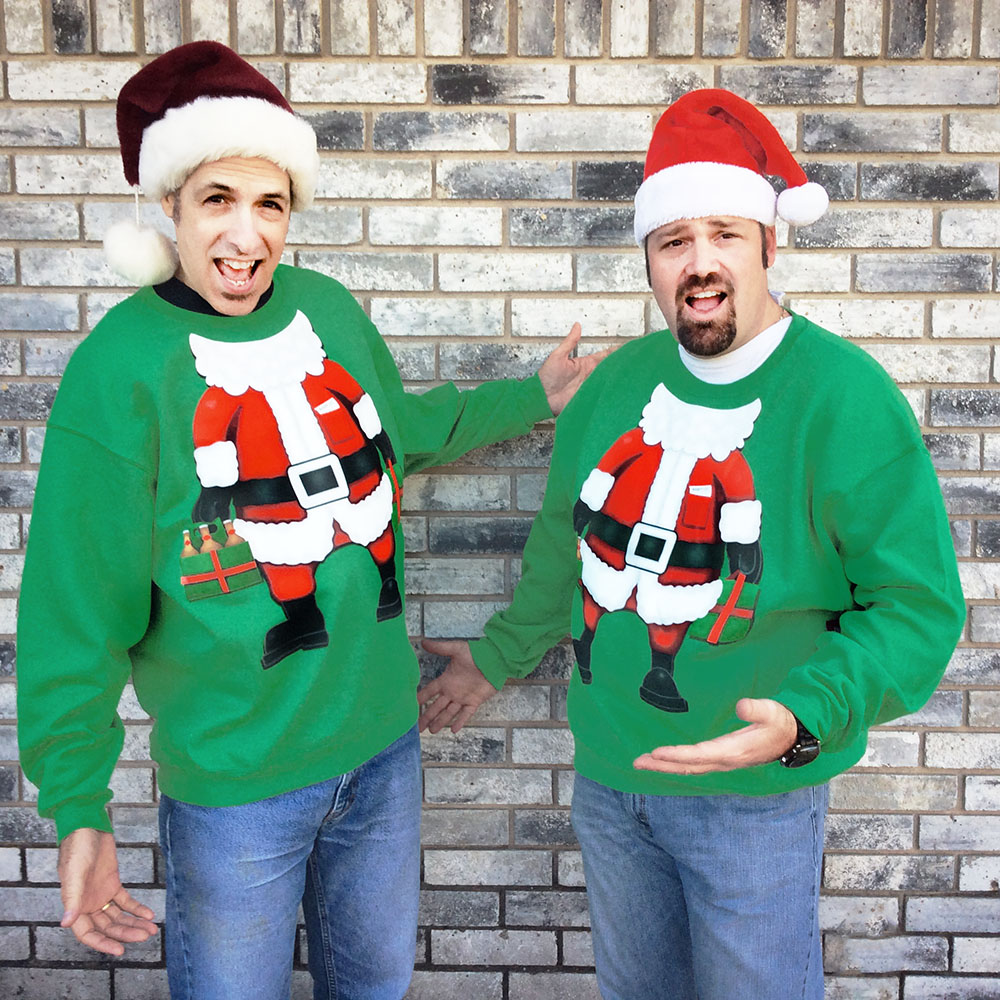 party with santa tacky ugly christmas sweatshirt - Big And Tall Christmas Sweaters