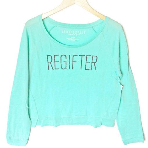 Regifter Tacky Ugly Christmas Sweatshirt Style Shirt – Turquoise