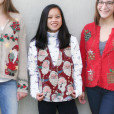 Santa Heads Tapestry Ugly Christmas Vest
