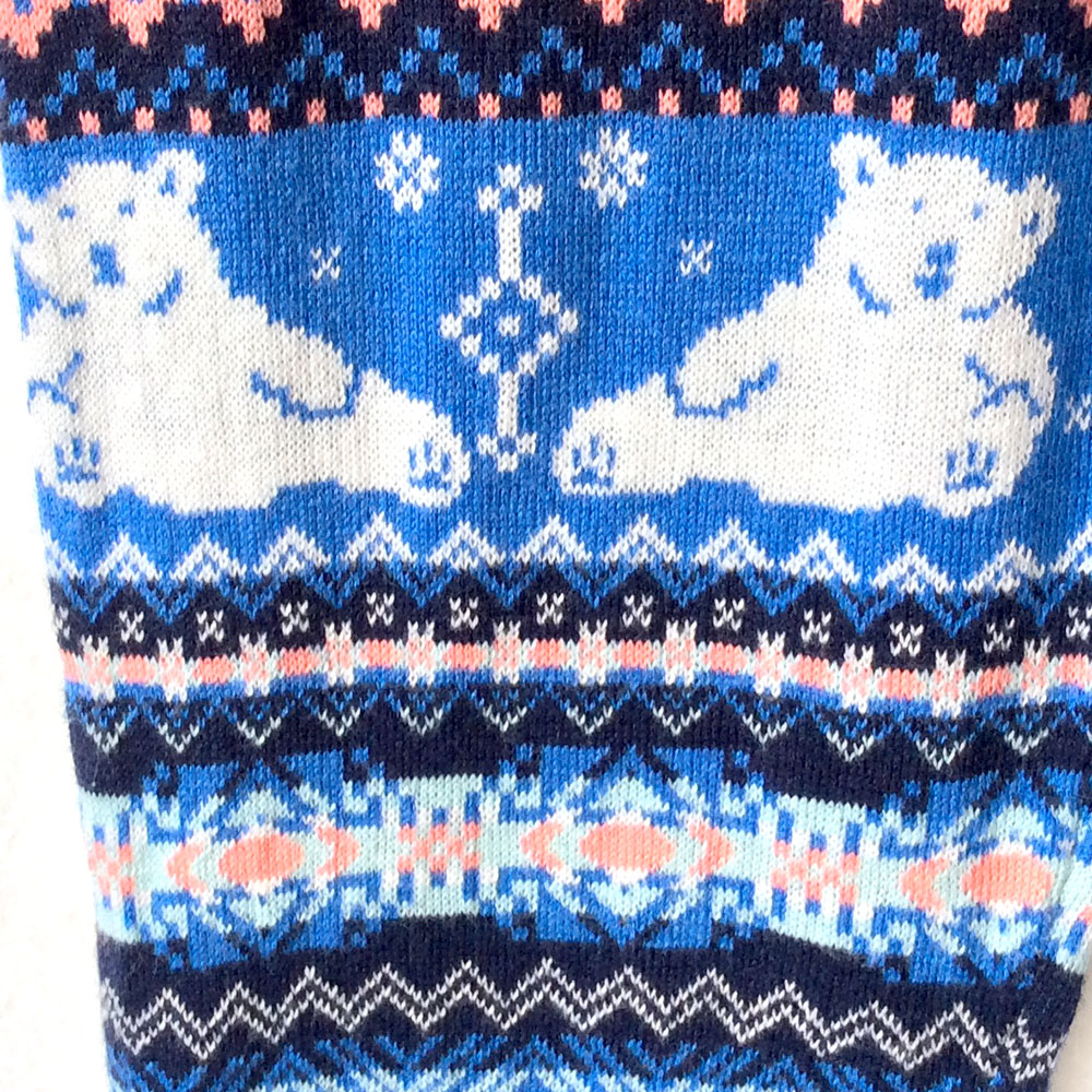 Super Soft Knit Happy Polar Bear Ugly Christmas Sweater Leggings ...
