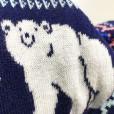 Super Soft Knit Happy Polar Bear Ugly Christmas Sweater Leggings 4