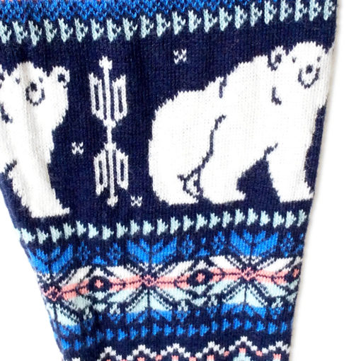 Super Soft Knit Happy Polar Bear Ugly Christmas Sweater Leggings