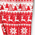 Super Soft Knit Red Nordic Snowflake Ugly Christmas Leggings