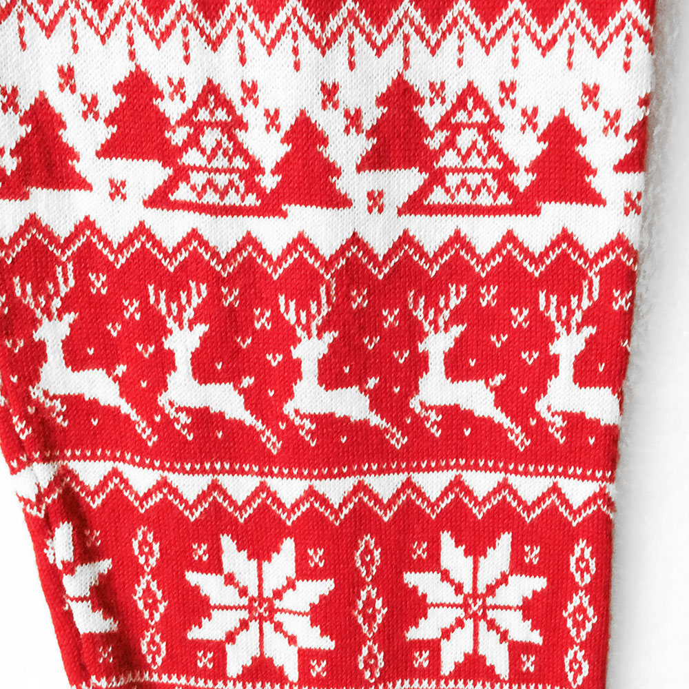 Super Soft Knit Red Nordic Snowflake Ugly Christmas Sweater Leggings ...
