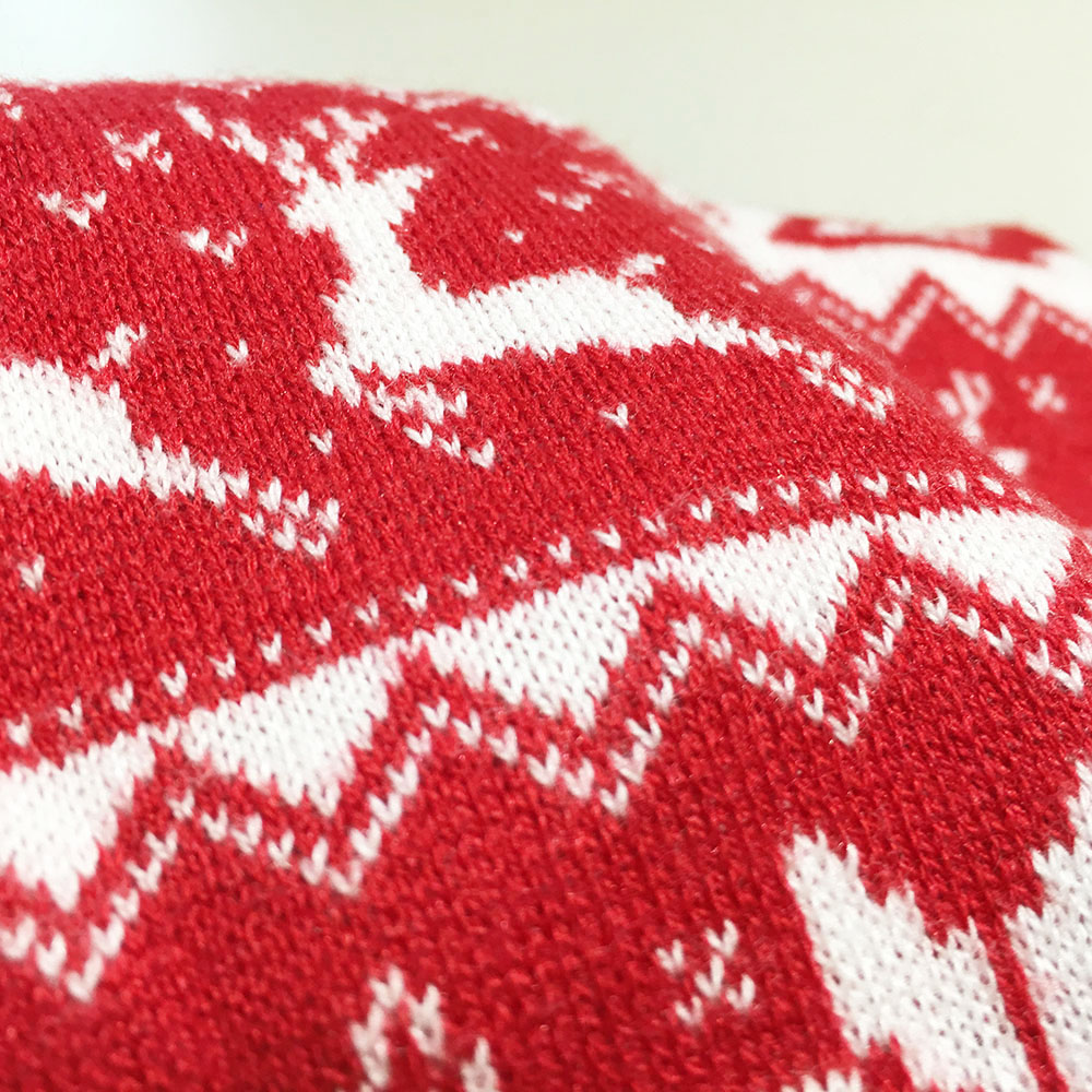 Super Soft Knit Red Nordic Snowflake Ugly Christmas Sweater ...