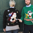 Toys and Giant Santa Head Tacky Ugly Christmas Sweater