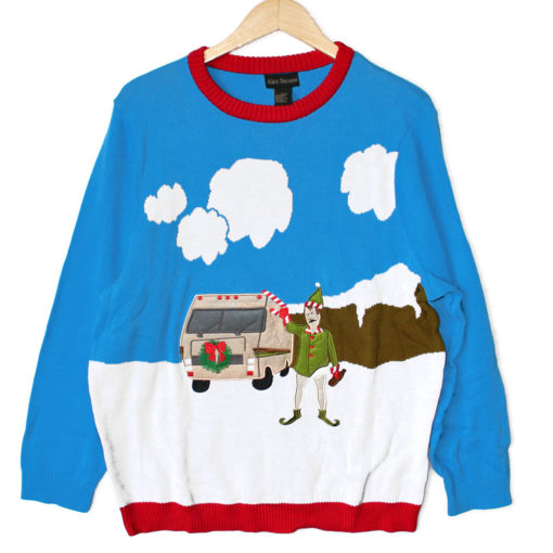 Walter White as an Elf Breaking Bad RV Tacky Ugly Christmas Sweater