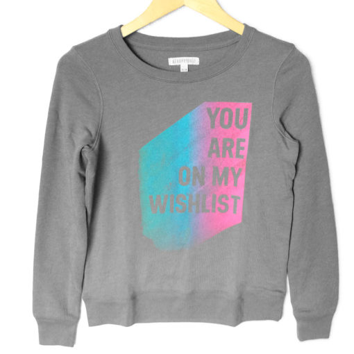 You Are On My Wishlist Vintage Look Ugly Christmas Sweatshirt