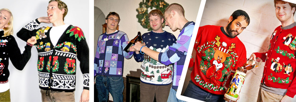 ugly christmas sweater parties featuring sweaters from the ugly sweater shop