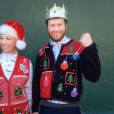 Christmas Trees + Ornaments Tacky Ugly Holiday Sweater